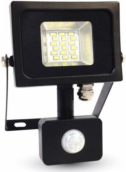 Προβολέας LED 10W Sensor SMD 3000K-Θερμό Λευκό V-TAC 5723 Μαύρος