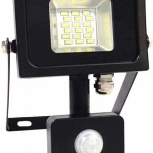 Προβολέας LED 10W Sensor SMD 6000K-Ψυχρό Λευκό V-TAC 5725 Μαύρος