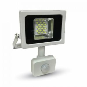 Προβολέας LED 10W Sensor SMD 3000K-Θερμό Λευκό V-TAC 5746 Λευκός-Μαύρος