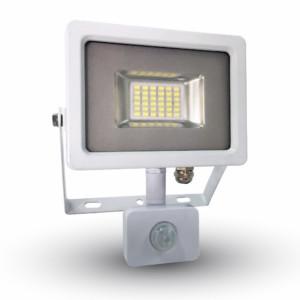 Προβολέας LED 20W Sensor 3000K-Θερμό Λευκό SMD V-TAC 5756 Λευκός-Γκρί
