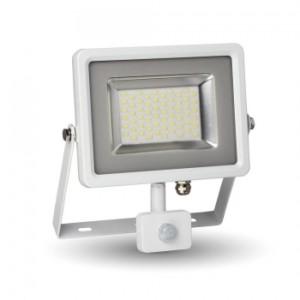 Προβολέας LED 30W Sensor 3000K-Θερμό Λευκό SMD V-TAC 5757 Λευκός-Γκρί
