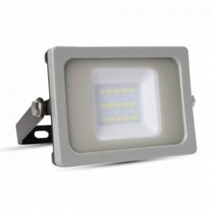 Προβολέας LED 10W 3000K-Θερμό Slim SMD V-TAC 5774 IP65 Γκρί/Μαύρο