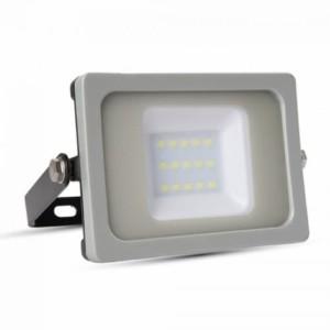 Προβολέας LED 10W 6400K-Ψυχρό Λευκό Slim SMD V-TAC 5776 IP65 Γκρί/Μαύρο