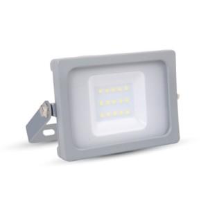 Προβολέας LED 10W 4000K-Ουδέτερο Λευκό Slim SMD V-TAC 5781 IP65 Γκρί