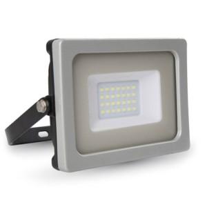 Προβολέας LED 20W Slim SMD 4000K-Ουδέτερο Λευκό V-TAC 5793 Γκρί-Μαύρος