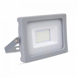 Προβολέας LED 20W Slim SMD 3000K-Θερμό Λευκό V-TAC 5798 Γκρί