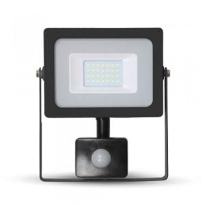 Προβολέας LED 20W Sensor 3000K-Θερμό Λευκό SMD V-TAC 5801 Μαύρος