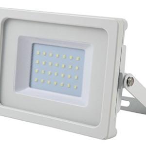 Προβολέας LED 30W Slim 3000K-Θερμό Λευκό SMD V-TAC 5807 Λευκός
