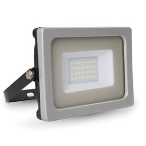 Προβολέας LED 30W Slim 4000K-Ουδέτερο Λευκό SMD V-TAC 5811 Γκρί-Μαύρος