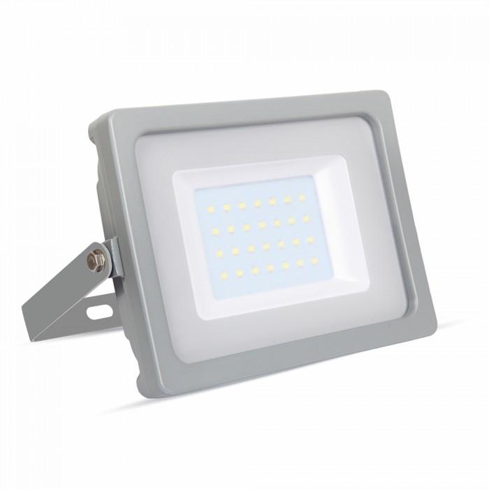 Προβολέας LED 30W Slim 3000K-Θερμό Λευκό SMD V-TAC 5816 Γκρί