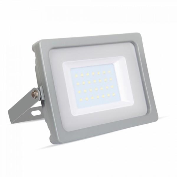 Προβολέας LED 30W Slim 4000K-Ουδέτερο Λευκό SMD V-TAC 5817 Γκρί