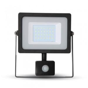 Προβολέας LED 30W Sensor 3000K-Θερμό Λευκό SMD V-TAC 5819 Μαύρος