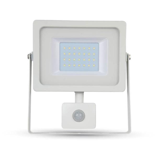 Προβολέας LED 30W Sensor 3000K-Θερμό Λευκό SMD V-TAC 5822 Λευκός
