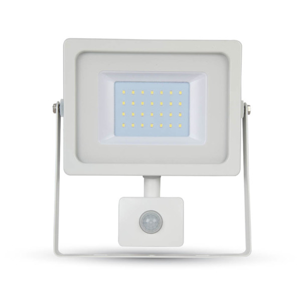 Προβολέας LED 30W Sensor 4000K-Ουδέτερο Λευκό SMD V-TAC 5823 Λευκός