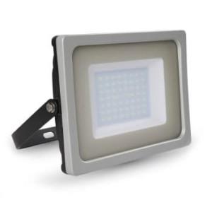 Προβολέας LED 50W Slim 3000K-Θερμό Λευκό SMD V-TAC 5828 Γκρί-Μαύρος