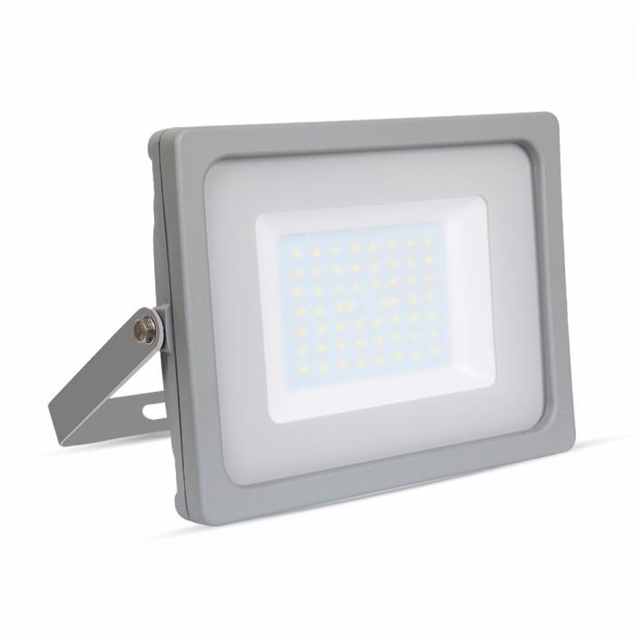 Προβολέας LED 50W Slim 3000K-Θερμό Λευκό SMD V-TAC 5834 Γκρί