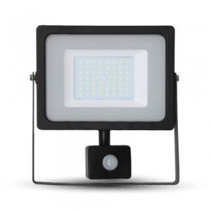 Προβολέας LED 50W Sensor 3000K-Θερμό Λευκό SMD V-TAC 5837 Μαύρος