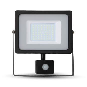 Προβολέας LED 50W Sensor 6400K-Ψυχρό Λευκό SMD V-TAC 5839 Μαύρος