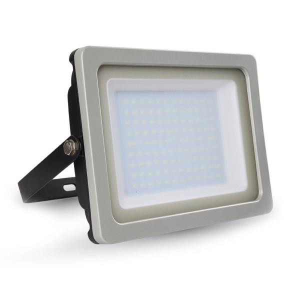 Προβολέας LED 100W Slim 3000K-Θερμό Λευκό SMD V-TAC 5846 Γκρί-Μαύρος