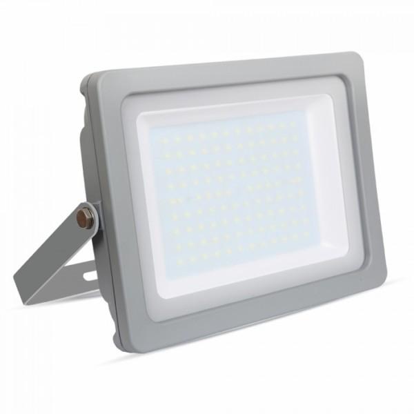 Προβολέας LED 100W Slim 3000K-Θερμό Λευκό SMD V-TAC 5852 Γκρί