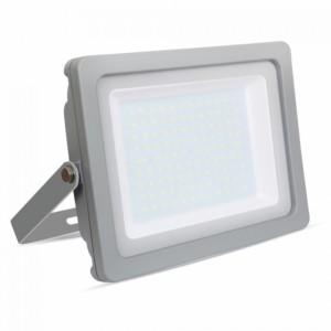 Προβολέας LED 100W Slim 4000K-Ουδέτερο Λευκό SMD V-TAC 5853 Γκρί