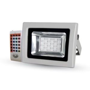 Προβολέας LED 10W RGB RF Με Τηλεχειριστήριο SMD V-TAC 5894 Γκρί