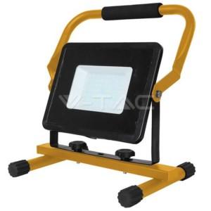 Προβολέας LED 50W Φορητός 6400K-Ψυχρό Λευκό V-TAC 5930