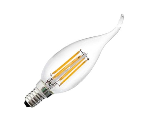 2550615-43-Λάμπα LED Filament Νήματος Vintage Κερί 4W με Ακίδα E14