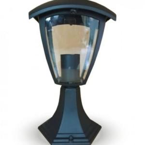 Φωτιστικό Δαπέδου Αδιάβροχο Μεταλλικό Μαύρο Αλουμινίου IP65 Ε27 V-TAC 7057