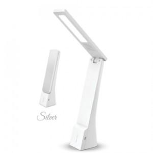 Φωτιστικό Γραφείου LED 4W Επαναφορτιζόμενο Λευκό-Ασημί V-TAC 7098