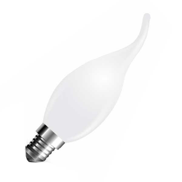 Λάμπα Κερί με Ακίδα Led 4W 2700K Θερμό Λευκό E14