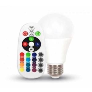 Λάμπα RGB Led 6W 2700K Θερμό Λευκό Dimmable A60 E27