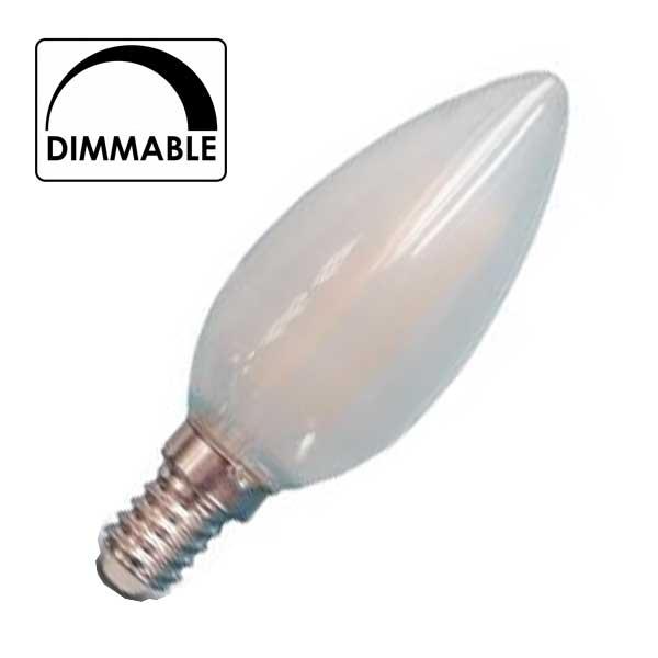 Λάμπα Κερί Led 4W 2700K Θερμό Λευκό E14 Dimmable