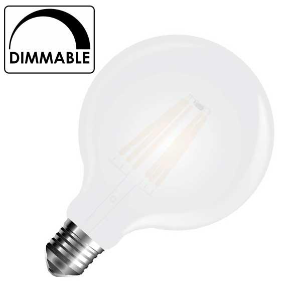 Λάμπα Globe Led 7W 2700K Θερμό Λευκό G125 Dimmable E27