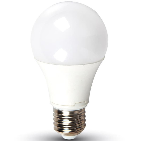 LED Λάμπα 9W E27 A60 SMD Εναλλαγής Χρώματος με πάτημα διακόπτη σε Θερμό/Ουδέτερο/ Ψυχρό Λευκό V-Tac 7317