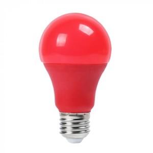 Λάμπα Χρωματιστή Led 9W Κόκκινη A60 E27 V-Tac 7341