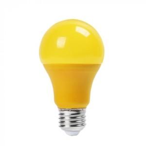 Λάμπα Χρωματιστή Led 9W Κίτρινη A60 E27 V-Tac 7342