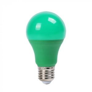 Λάμπα Χρωματιστή Led 9W Πράσινη A60 E27 V-Tac 7343