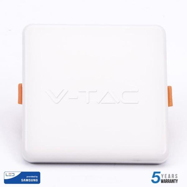 LED Mini Panel Τετράγωνο 18W SMD 85-265V Αλουμινίου Ρυθμιζόμενης Κοπής Samsung Chip Ψυχρό Λευκό 64000K  V-Tac 738