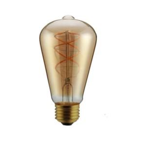 Λάμπα Led Filament Retro Avocado ST64 5W Dimmable Θερμό Λευκό 2200K Νήματος E27 V-Tac 7416