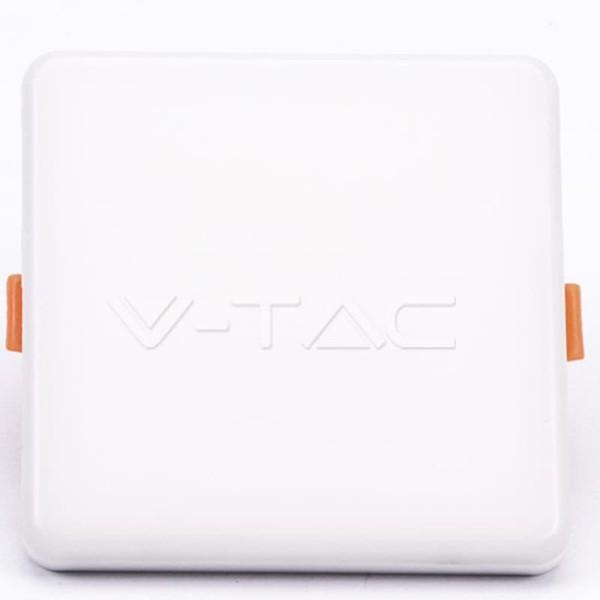 LED Mini Panel Τετράγωνο 18W SMD 85-265V Αλουμινίου Ρυθμιζόμενης Κοπής Samsung Chip Θερμό Λευκό 3000K  V-Tac 742