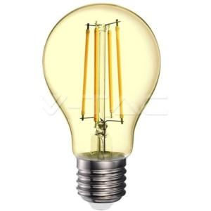 Λάμπα Led AMBER Filament Γυαλί A70 12.5W Θερμό Λευκό 2200K Νήματος E27 7457 V-Tac