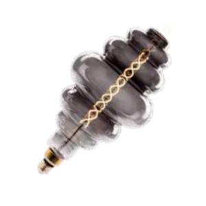 Λάμπα LED Dimmable Smokey Filament Special Με διπλό σπείρωμα 8W S200 E27 2000K V-TAC 7465 Πάρα Πολύ Θερμό