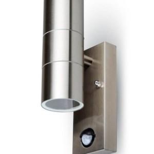 Φωτιστικό Σποτ 2xGU10 Sensor Ανοξείδωτο Ατσάλι Χρώμιο V-TAC 7503