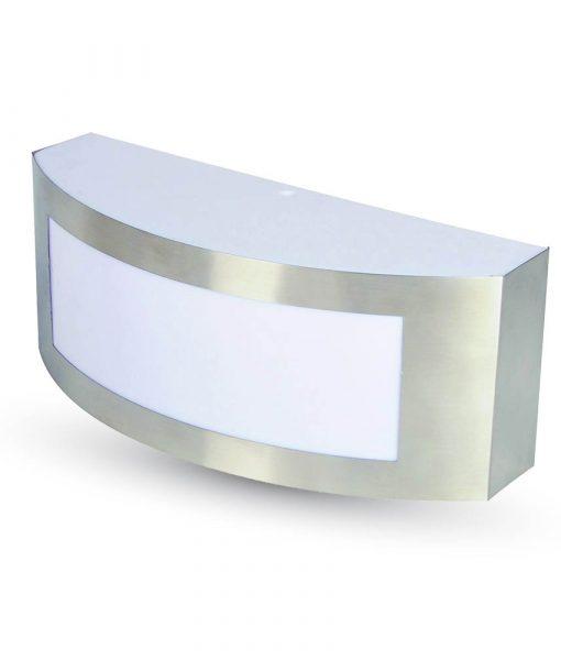 Φωτιστικό Απλίκα Ανοξείδωτο Ατσάλι IP44 Χρώμιο- Λευκό Ε27 V-TAC 7513