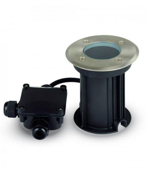 Χωνευτό Φωτιστικό Δαπέδου GU10 Ανοξείδωτο Ατσάλι V-TAC 7515