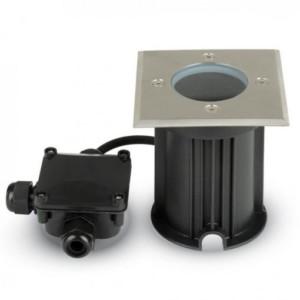 Χωνευτό Φωτιστικό Δαπέδου GU10 Ανοξείδωτο Ατσάλι V-TAC 7516