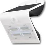 LED Ηλιακό Φωτιστικό 3W Sensor Στεγανό IP65 Λευκό-Μαύρο V-TAC 7523