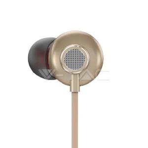 Ακουστικά Ενσύρματα Χρυσαφί για Κινητά Android