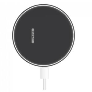 Ασύρματος Στρογγυλός Φορτιστής Pad Qi Γρήγορης Φόρτισης 10W Μαύρος V-TAC 7708